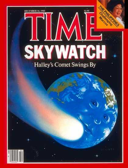 Time - Halley's Comet - Dec. 16, 1985 - Astronomy - Science & Technology - Comets - Ear