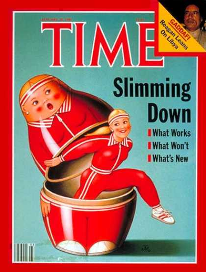 Time - Shedding Weight - Jan. 20, 1986 - Food - Diets - Fitness - Health & Medicine