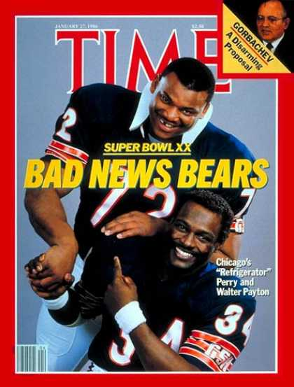 Time - William Perry & Walter Payton - Jan. 27, 1986 - Football - Chicago - Sports