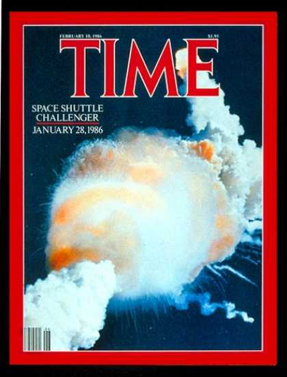 Time - Challenger' Explodes - Feb. 10, 1986 - NASA - Spacecraft - Disasters - Space Exp