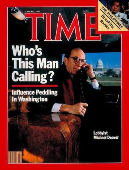 Time - Michael Deaver - Mar. 3, 1986 - Chiefs of Staff - Politics