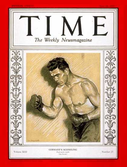 Time - Max Schmeling - June 24, 1929 - Boxing - Sports
