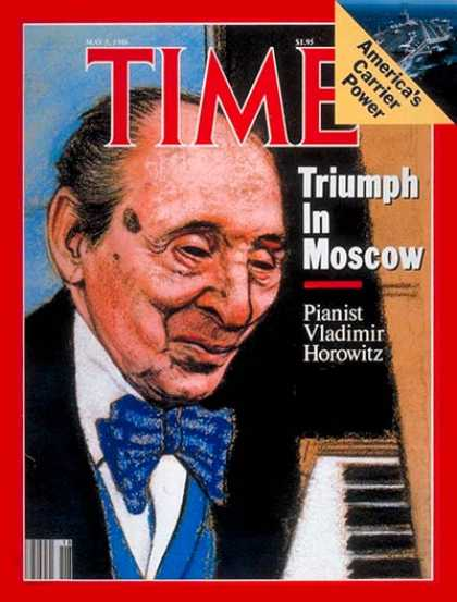 Time - Vladimir Horowitz - May 5, 1986 - Pianists - Classical Music - Music