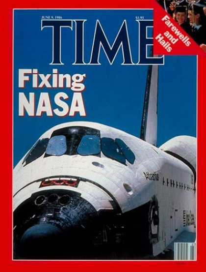 Time - Fixing NASA - June 9, 1986 - NASA - Spacecraft - Aviation - Space Exploration