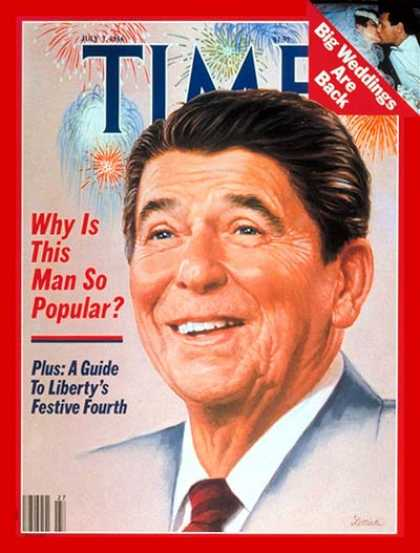 Time - Ronald Reagan - July 7, 1986 - U.S. Presidents - Politics