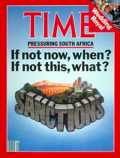 Time - South Africa - Aug. 4, 1986 - Apartheid - Africa