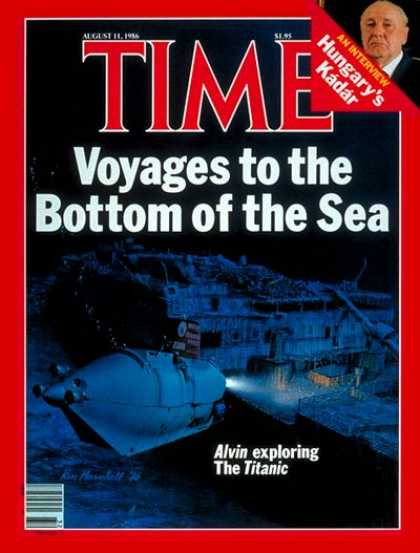 Time - Alvin' Explores 'Titanic' - Aug. 11, 1986 - Exploration - Submarines