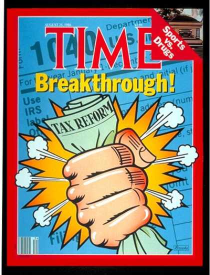 Time - Tax Reform - Aug. 25, 1986 - Taxes - Economy