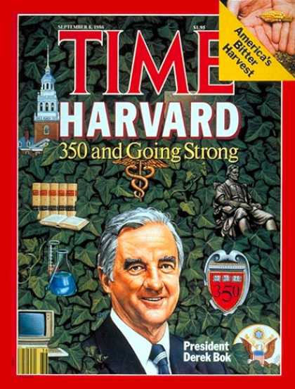 Time - Harvard's Derek Bok - Sep. 8, 1986 - Education