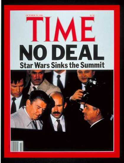 Time - Ronald Reagan & Mikhail Gorbachev - Oct. 20, 1986 - Ronald Reagan - Mikhail Gorb