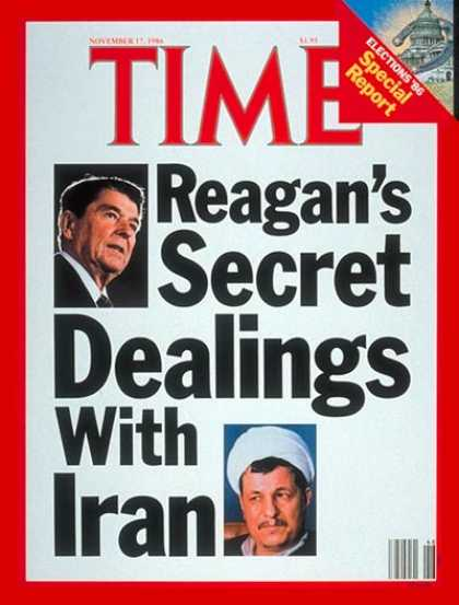 Time - Ronald Reagan's Secret Dealings With Iran - Nov. 17, 1986 - Ronald Reagan - U.S.