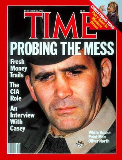 Time - Liet. Col. Oliver North - Dec. 22, 1986 - Oliver North - Iran-Contra - Middle Ea