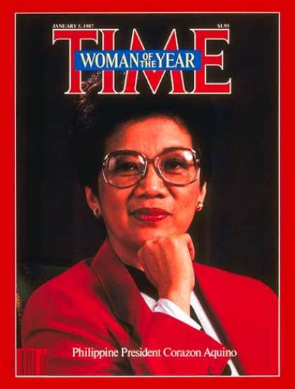 Time - Corazon Aquino, Woman of the Year - Jan. 5, 1987 - Corazon Aquino - Person of th