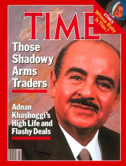 Time - Adnan Khashoggi - Jan. 19, 1987 - Saudi Arabia - Middle East