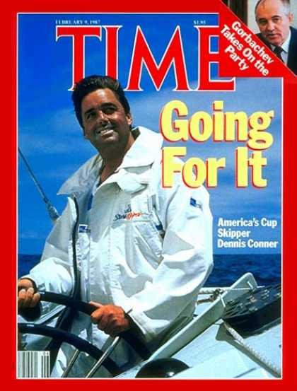 Time - Dennis Conner - Feb. 9, 1987 - Sailing - Sports