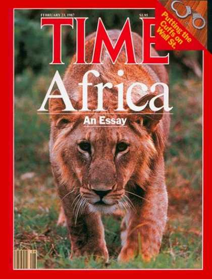 Time - African Wildlife - Feb. 23, 1987 - Wildlife - Africa - Environment