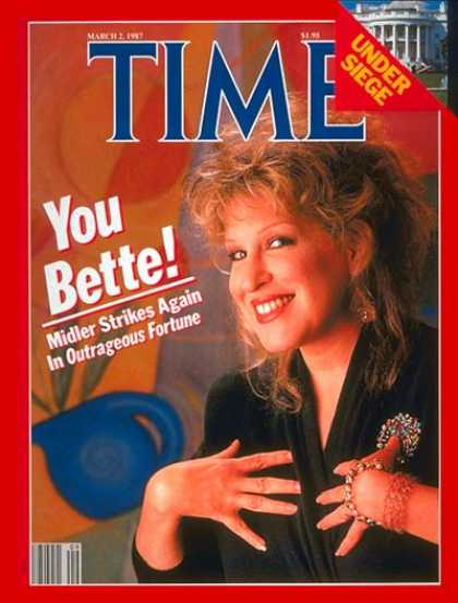 Time - Bette Midler - Mar. 2, 1987 - Movies - Singers - Actresses - Music