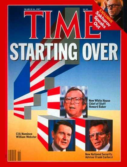 Time - James Baker, William Webster & Frank Carlucci - Mar. 16, 1987 - James Baker - Sc