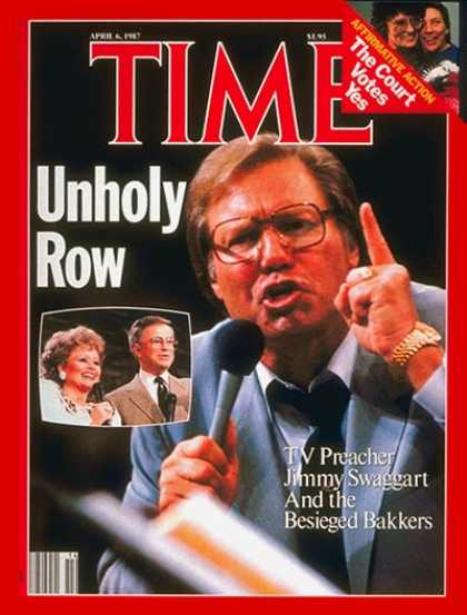 Time - Jimmy Swaggart and the Bakkers - Apr. 6, 1987 - Religion - Scandals