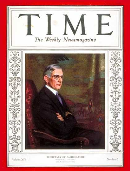 Time - Arthur M. Hyde - Aug. 5, 1929 - Missouri - Politics
