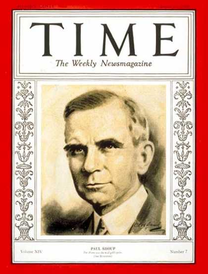 Time - Paul Shoup - Aug. 12, 1929 - Transportation - Railroads - Business