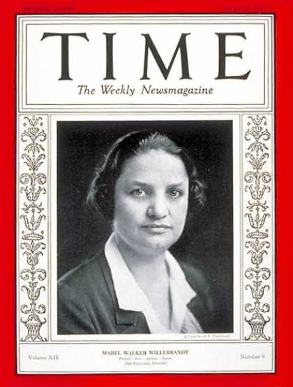 Time - Mabel Willebrandt - Aug. 26, 1929 - Law - Education