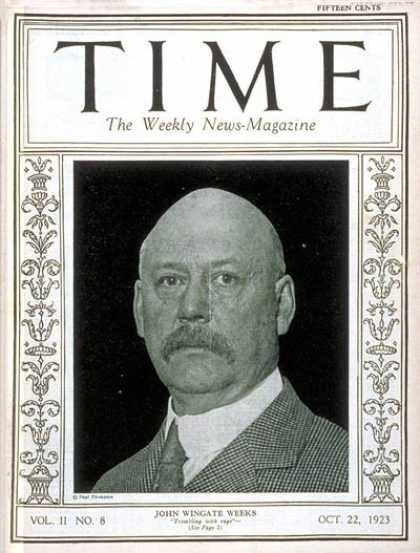 Time - John W. Weeks - Oct. 22, 1923 - Military - Navy - Politics