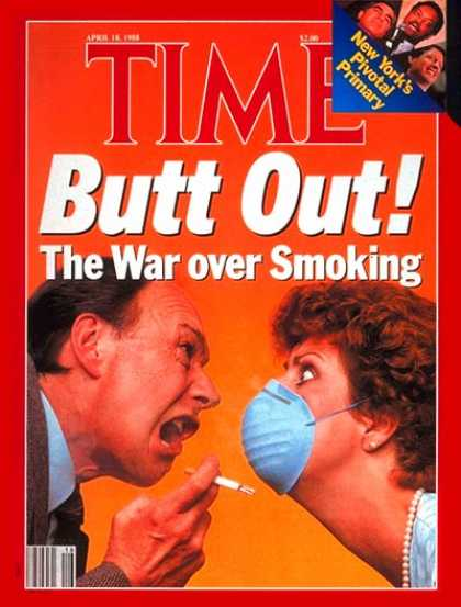 Time - War Over Smoking - Apr. 18, 1988 - Smoking - Society - Tobacco - Social Issues -