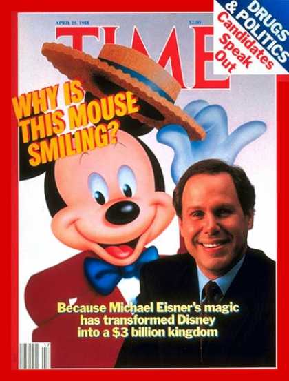 Time - Michael Eisner & Mickey Mouse - Apr. 25, 1988 - Disney - Business