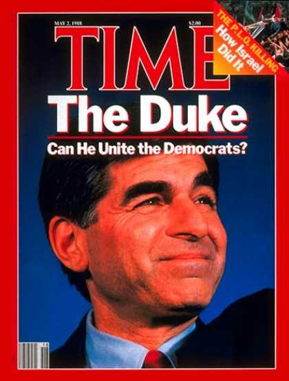 Time - Michael Dukakis - May 2, 1988 - Governors - Massachusetts - Presidential Electio