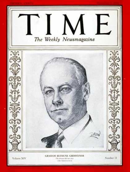 Time - Graham B. Grosvenor - Sep. 9, 1929 - Aviation - Cleveland - Business
