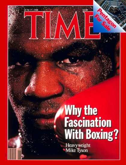 Time - Mike Tyson - June 27, 1988 - Boxing - Sports