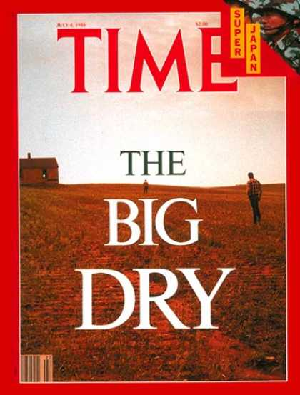 Time - Drought - July 4, 1988 - Weather - Global Warming - Environment