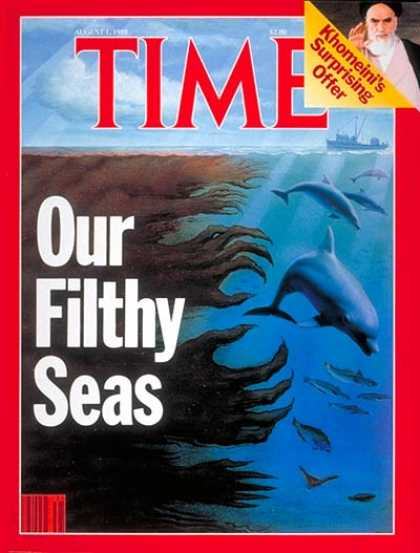 Time - Ocean Pollution - Aug. 1, 1988 - Pollution - Environment