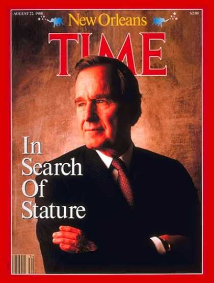 Time - George Bush - Aug. 22, 1988 - George H.W. Bush - Presidential Elections - Republ