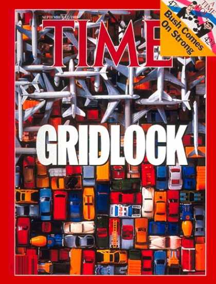 Time - Gridlock - Sep. 12, 1988 - Cars - Aviation - Automotive Industry - Transportatio