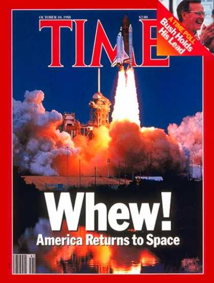 Time - U.S. Returns to Space - Oct. 10, 1988 - NASA - Spacecraft - Space Exploration