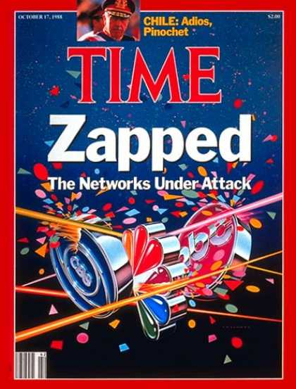 Time - Networks Under Fire - Oct. 17, 1988 - Television - Broadcasting - ABC - NBC - CB