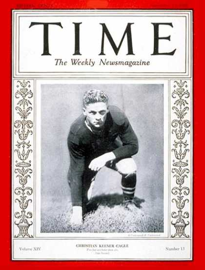 Time - Christian K. Cagle - Sep. 23, 1929 - Football - Sports