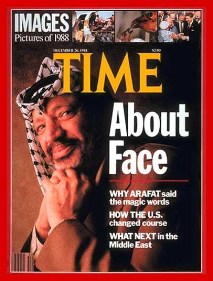 Time - Yasser Arafat - Dec. 26, 1988 - Palestine - Middle East
