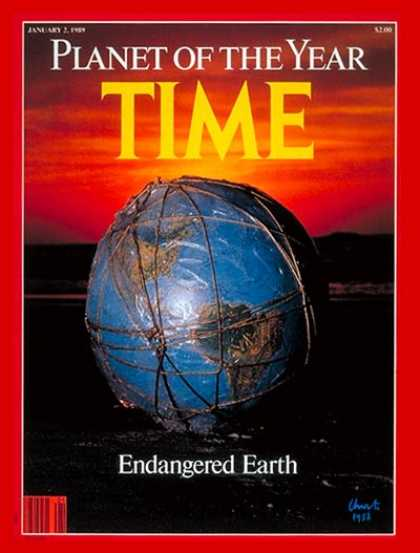 Time - Endangered Earth, Planet of the Year - Jan. 2, 1989 - Person of the Year - Envir