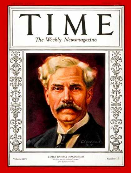 Time - Ramsay MacDonald - Oct. 7, 1929 - Great Britain - Prime Ministers