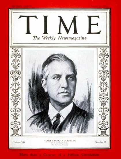 Time - Harry Guggenheim - Oct. 21, 1929 - Cuba - Diplomacy