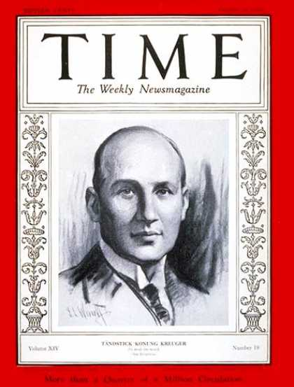 Time - Ivar Kreuger - Oct. 28, 1929 - Economy