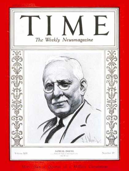 Time - Samuel Insull - Nov. 4, 1929 - Chicago - Business - Transportation
