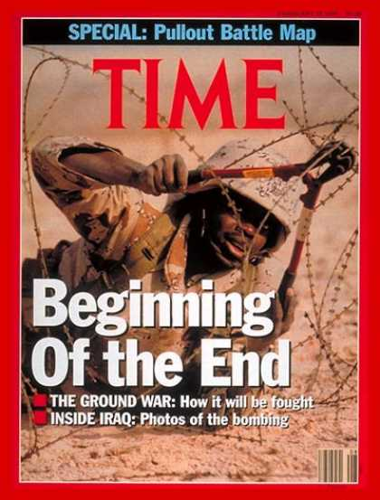 Time - The End in Sight - Feb. 25, 1991 - Gulf War - Iraq - Desert Storm - Middle East
