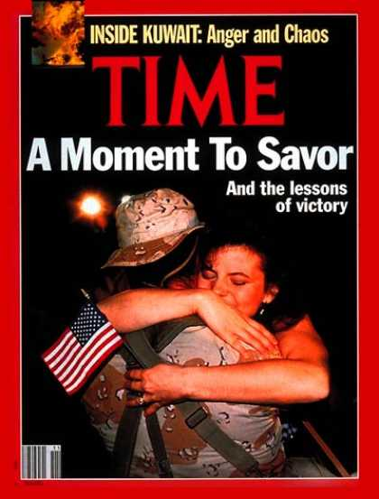 Time - The Troops Come Home - Mar. 18, 1991 - Gulf War - Iraq - Desert Storm - Middle E