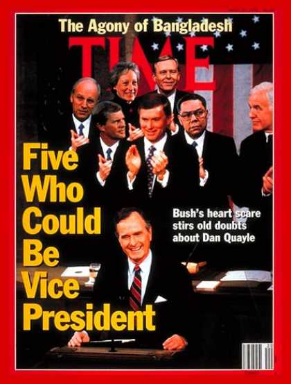 Time - A New Vice President for Bush - May 20, 1991 - George H.W. Bush - Dan Quayle - D