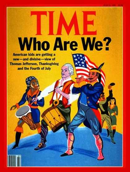 Time - Who Are Americans? - July 8, 1991 - Children - History - Society