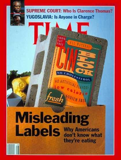 Time - What's in a Label? - July 15, 1991 - Food - Health & Medicine - Diets - Law